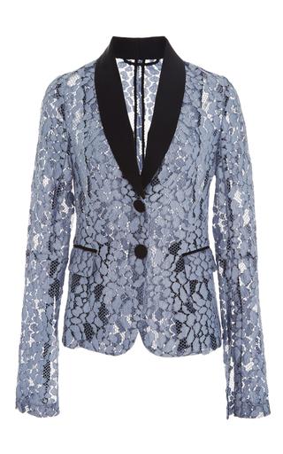Medium alexis blue aline lace suit jacket