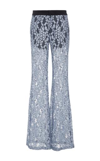 Medium alexis blue agata lace flare pants