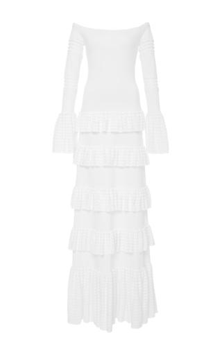 Medium alexis white sylar off the shoulder long dress