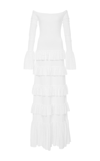 Medium alexis white sylar off the shoulder long dress