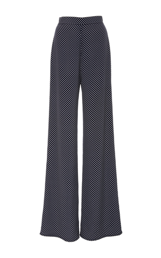 Medium alexis navy lolette dot wide leg pants
