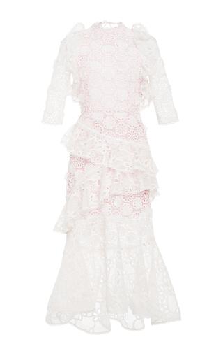 Medium alexis white mikaela eyelet long dress