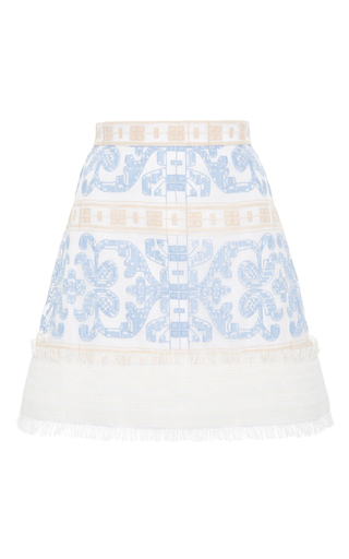 Medium alexis multi anzel embroidered mini skirt