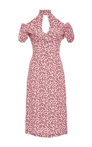 Medium alexis pink calla off the shoulder print dress