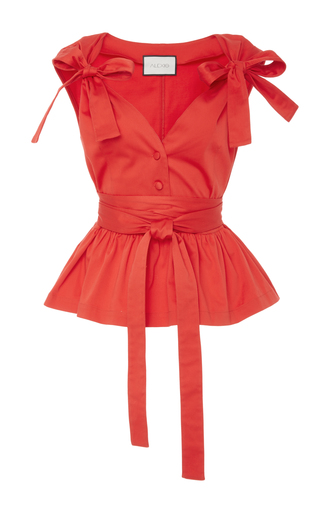 Medium alexis red roza bows top
