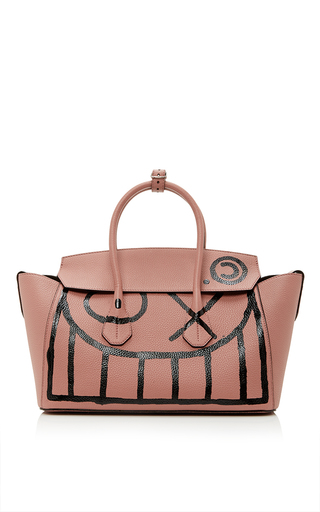 Medium bally pink m o exclusive andre saraiva tagged sommet tote