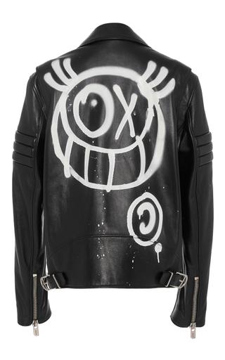 Medium bally black m o exclusive andre saraiva men s motorcycle jacket