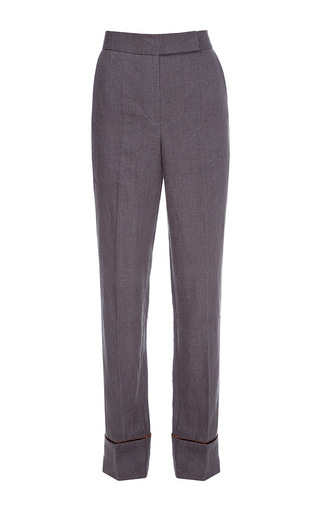 Medium lake studio grey high waisted velvet trim pants
