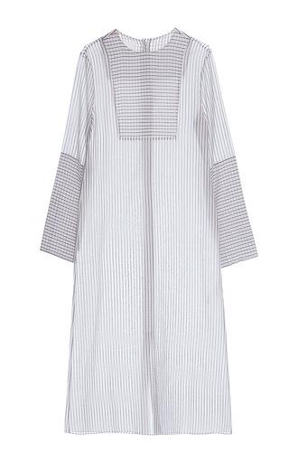 Medium lake studio stripe multi stripe long sleeve blouse