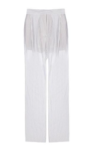 Medium lake studio stripe high waisted wide leg pants