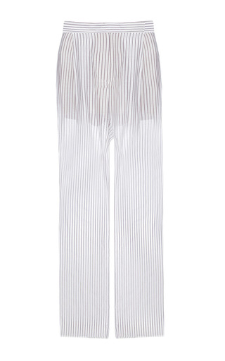 Medium lake studio stripe high waisted wide leg pants