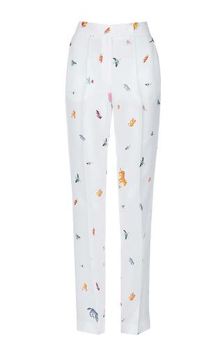 Medium lake studio white high waisted printed pants