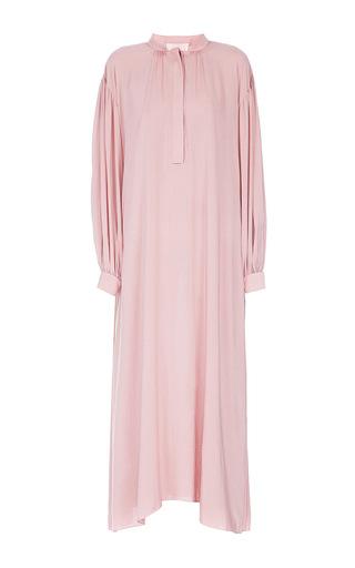Medium lake studio pink long sleeve midi dress