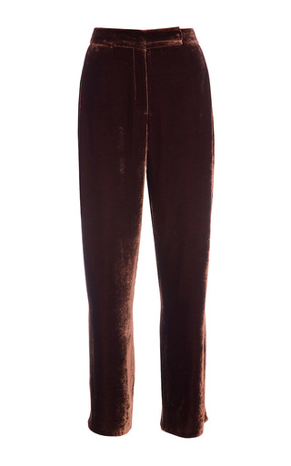 Medium lake studio brown high waisted velvet pants
