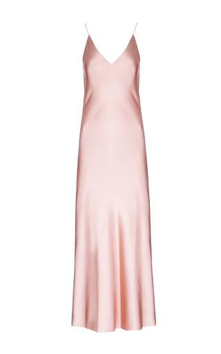 Medium lake studio pink v neck maxi slip dress