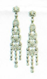 Medium simon teakle silver bell epoque diamond earrings