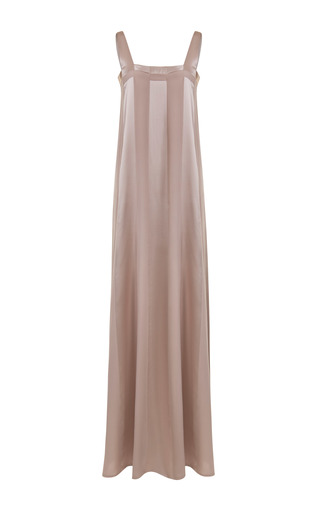 Medium jessica choay neutral itinerant satin panel dress
