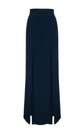 Medium jessica choay navy courtesan slit skirt
