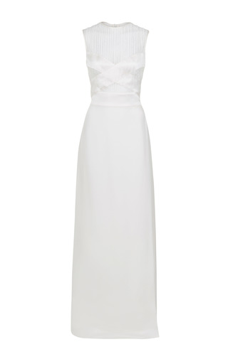 Medium jessica choay white loop silk maxi dress