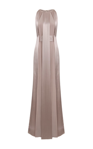 Medium jessica choay neutral lust satin panel dress
