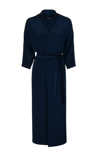 Medium jessica choay navy velvet wrap dress