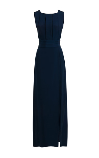 Medium jessica choay navy ribbon silk maxi dress