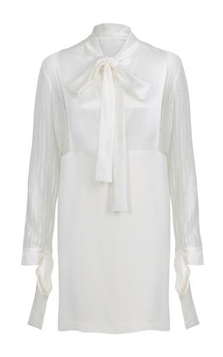 Medium jessica choay white liza mini bow dress