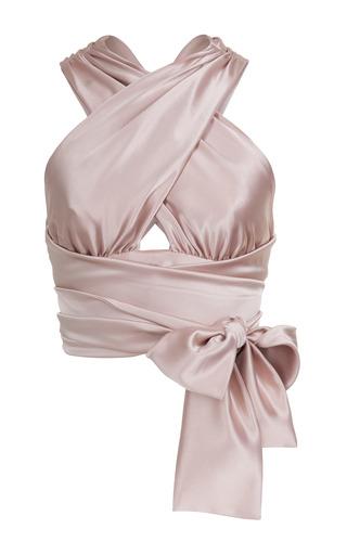 Medium jessica choay pink strap wrap crop top 2