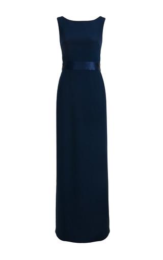 Medium jessica choay navy grip silk maxi dress