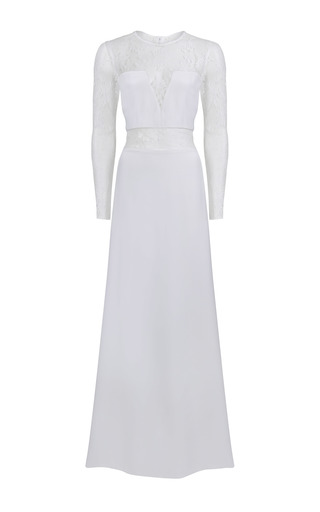 Medium jessica choay white equivocal long sleeved maxi dress