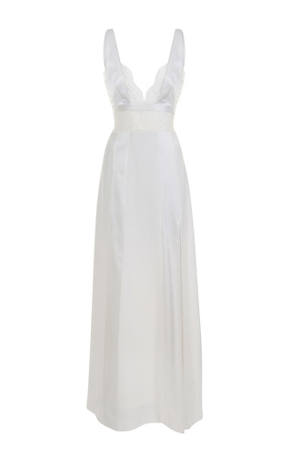 Medium jessica choay white dreamy slit maxi dress