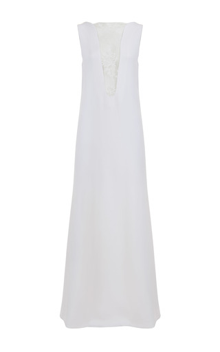 Medium jessica choay white delicious silk maxi dress