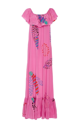 Medium soler pink hand painted ana maxi dress