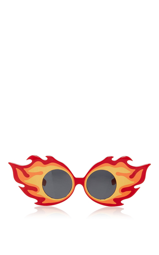 Medium linda farrow red fire walk with me sunglasses
