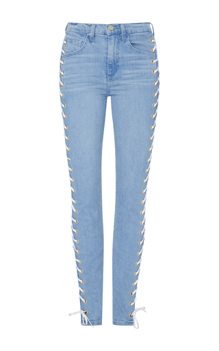Medium made gold blue betty capo wash lace up jeans