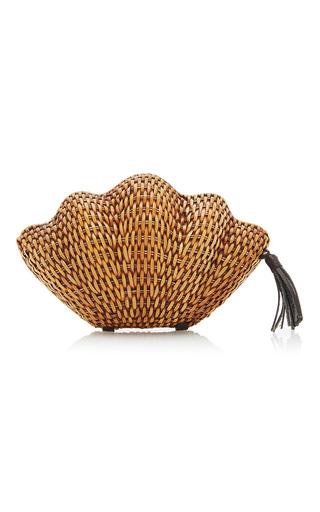 Medium kayu neutral jane clam clutch
