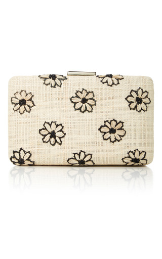Medium kayu neutral daisy clutch