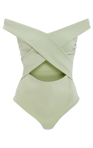 Medium libsa green pia cross bodysuit