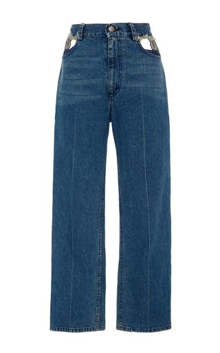 Medium rachel comey blue lenox denim cutout pant