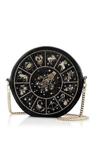 Medium preciously paris black aquarius clutch