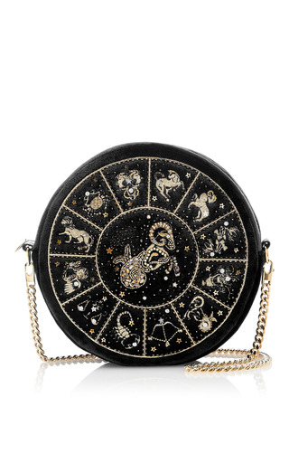 Medium preciously paris black aries clutch