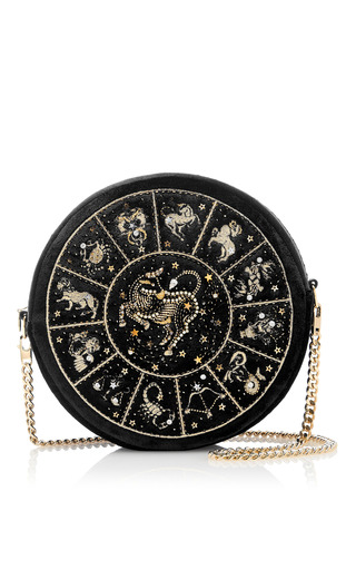 Medium preciously paris black taurus clutch