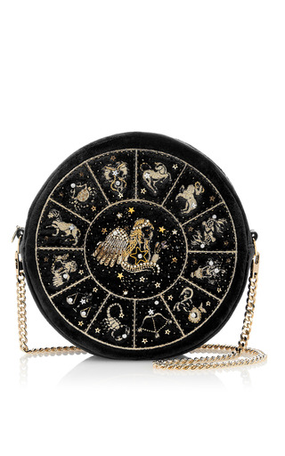 Medium preciously paris black virgo clutch