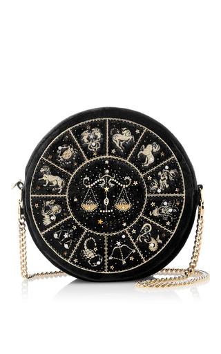 Medium preciously paris black libra clutch