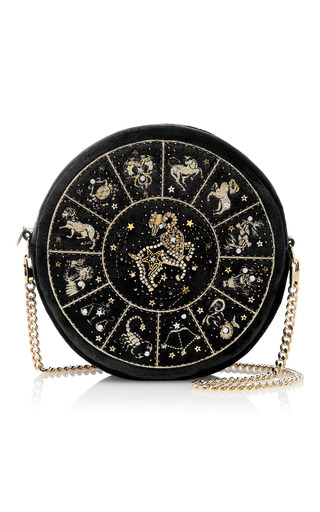 Medium preciously paris black capricorn clutch
