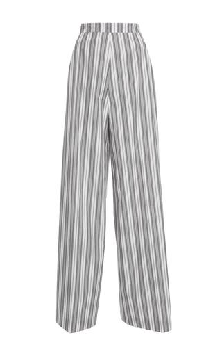 Medium christian siriano stripe multi stripe wide leg pant