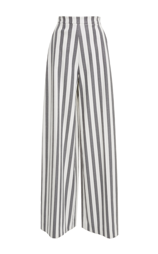 Medium christian siriano stripe bold stripe wide leg pant