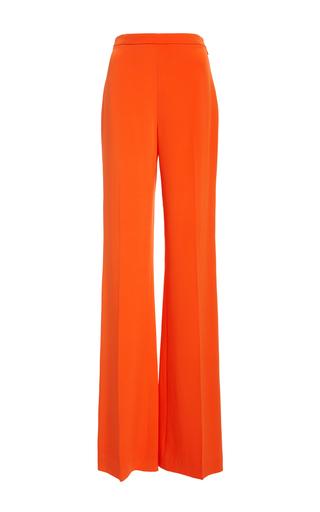 Medium christian siriano orange crepe wide leg trouser