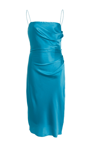 Medium christian siriano blue draped slip dress