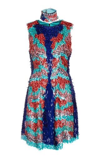 Medium christian siriano multi embroidered parrot dress